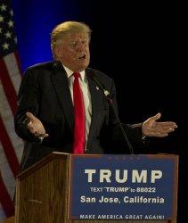 Donald Trump speaks at rally in San Jose