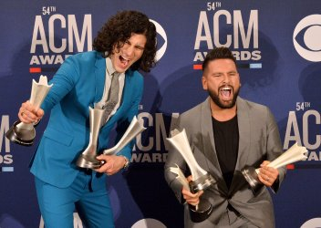 Dan + Shay wins award at the Academy of Country Music Awards in Las Vegas