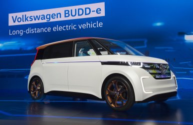 Volkswagen BUDD-e concept vehicle at 2016 International CES