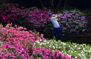 Jordan Spieth during a practice round for the Masters