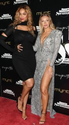 Tyra Banks and Camille Kostek Walk the Red Carpet At The 2019 SI  Swimsuit Party In Miami Beach, Florida