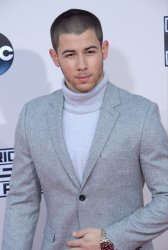 Nick Jonas attends the 43rd annual American Music Awards in Los Angeles