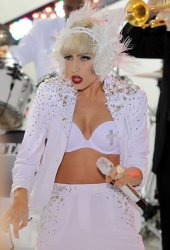 Lady Gaga performs on the NBC Today Show at Rockefeller Center in New York