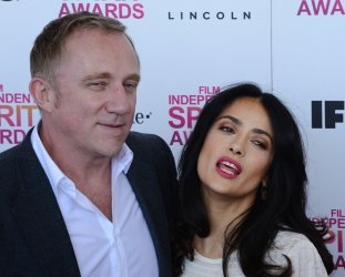 Salma Hayek and Francois-Henri Pinault  attend the 28th annual Film Independent Spirit Awards in Santa Monica, California