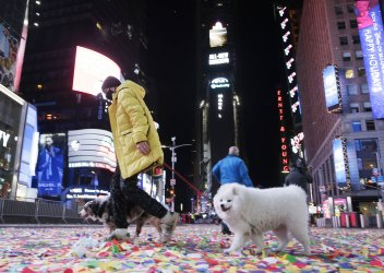 Times Square Closed Due to COVID Pandemic on NYE in New York