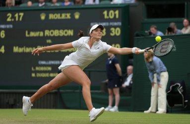Laura Robson returns at 2013 Wimbledon Championships
