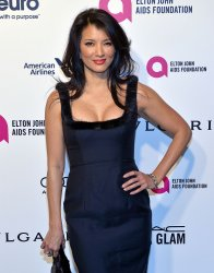 Kelly Hu attends the Elton John Aids Foundation Oscar viewing party