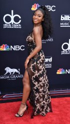 Normani arrives at the 2018 Billboard Music Awards in Las Vegas, Nevada