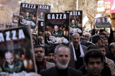 Iranians demonstrate to support Gaza in Tehran