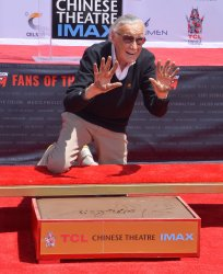 Stan Lee immortalized in forecourt of TCL Chinese Theatre in Los Angeles