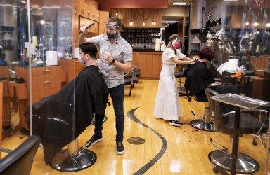 Salons and Barbershops reopen in Virginia
