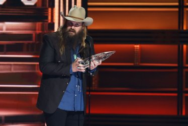 Chris Stapleton wins male vocalist of the year at the 2017 CMA Awards in Nashville