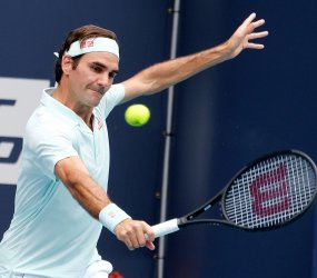Federer at the Miami Open Men's Finals at the Hard Rock Stadium in Miami Gardens, Florida
