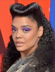 Tessa Thompson attends the MTV Movie & TV Awards in Santa Monica, California