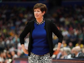 Notre Dame's Muffet McGraw in the NCAA Women's Basketball Championship