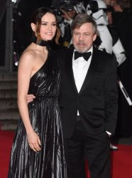 Daisy Ridley and Mark Hamill attend the european premiere of Star Wars: .The Last Jedi in London.