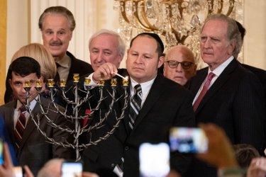 Trump attends Hanukkah Reception