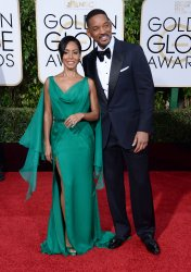 Jada Pinkett Smith and Will Smith attend the 73rd annual Golden Globe Awards