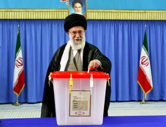 Voters go to the Polls on Election Day in Iran