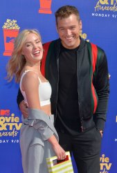 Cassie Randolph and Colton Underwood attend the MTV Movie & TV Awards in Santa Monica, California