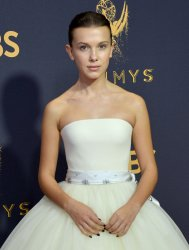 Millie Bobby Brown attends the 69th annual Primetime Emmy Awards in Los Angeles