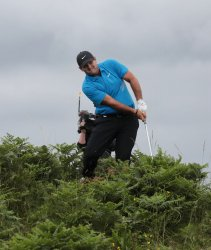Patrick Reed on the 2nd day of the Open Championship at Royal Portrush