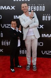 """Simon Pegg and Deep Roy attend the """"Star Trek Beyond"""" premiere in San Diego"""