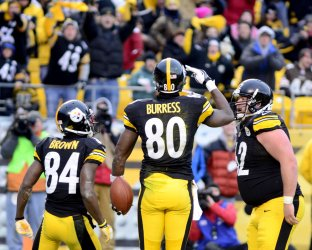 Pittsburgh Steelers Plaxico Burress Scores TD in Pittsburgh