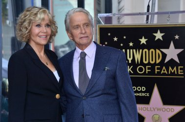 Michael Douglas is honored with a star on the Hollywood Walk of Fame in Los Angeles.