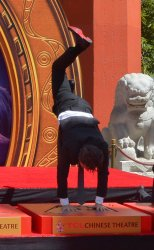 """Avengers"" cast immortalized in forecourt of TCL Chinese Theatre in L.A."