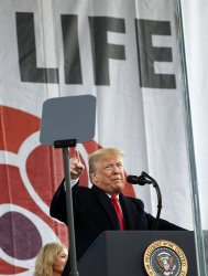 Donald Trump attends March for Life in Washington DC
