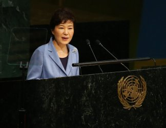 Park Geun-hye addresses the 70th UN General Assembly