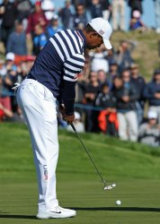 Tiger Woods practice session at the Ryder Cup 2018