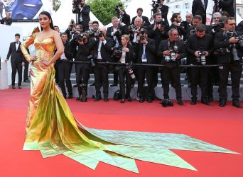 Aishwarya Rai attends the Cannes Film Festival