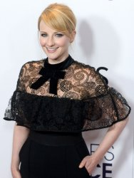 Melissa Rauch backstage at the People's Choice Awards in Los Angeles