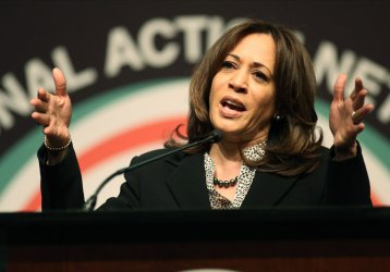 Senator Kamala Harris speaks at the National Action Network Convention in New York