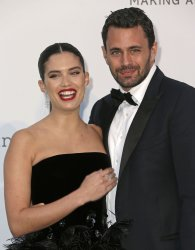 Sara Sampaio and Oliver Ripley attend the amfAR Gala in Antibes