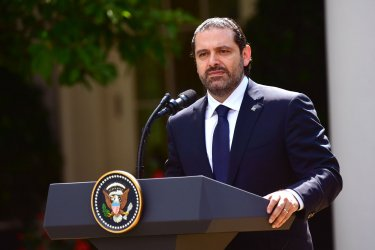 President Trump and Lebanon PM Saad Hariri speak to the press at the White House