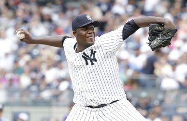 New York Yankees Michael Pineda at Yankee Stadium
