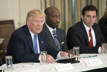President Trump meets with Manufacturing CEO's at the White House