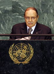 President of Algeria Abdelaziz Bouteflika speaks at the 64th United Nations General Assembly at the UN in New York