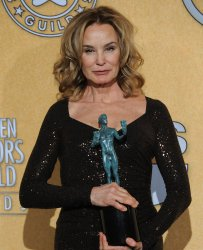 Actress Jessica Lange - Winner Female Actor in a Drama Series - poses in the press room during the 18th annual Screen Actors Guild Awards in Los Angeles