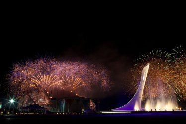 Fireworks during Closing Ceremony at the 2014 Winter Olympics