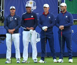 Koepka, Finau, Rose and Rahm at the Ryder Cup 2018