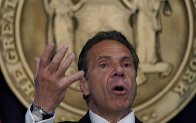 New York Governor Andrew Cuomo Holds a News Conference in New York