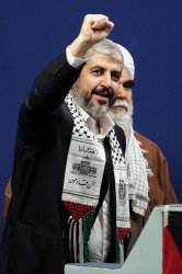 Leader of the Islamic group Hamas Khaled Meshaal in Tehran