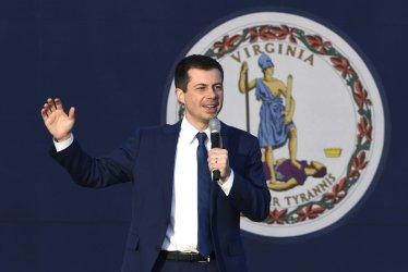 Democratic candidate Buttigieg campaigns in Virginia