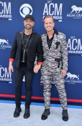 Cody Alan and Trea Smith attend the Academy of Country Music Awards in Las Vegas