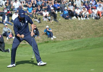 Dustin Johnson at the Ryder Cup 2018