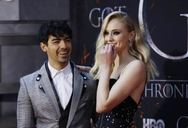 Sophie Turner at the Season 8 premiere of Game of Thrones
